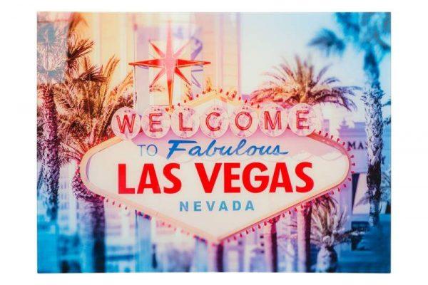 Obraz Las Vegas 60x80cm sklo