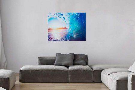 Obraz Wave Welle sklo 60 x 80 cm