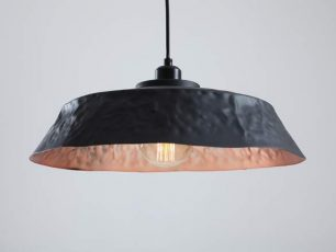 Závesná lampa Ador Flat - medeno-čierna