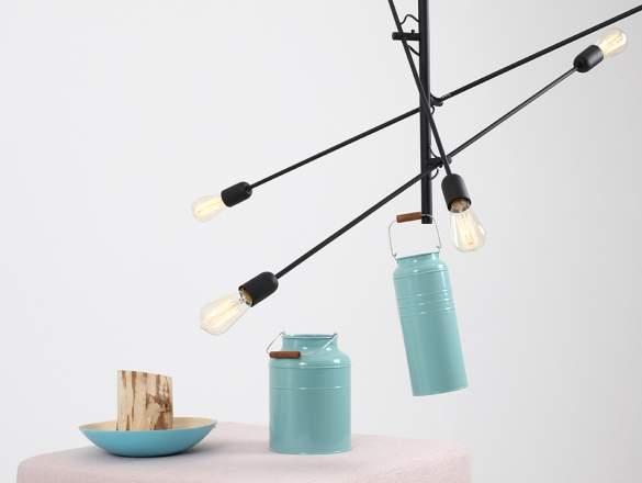 Závesná lampa Twigo 6 - čierna