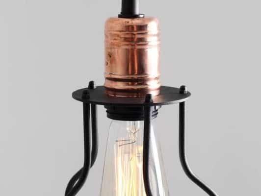 Závesná lampa Worker Wide