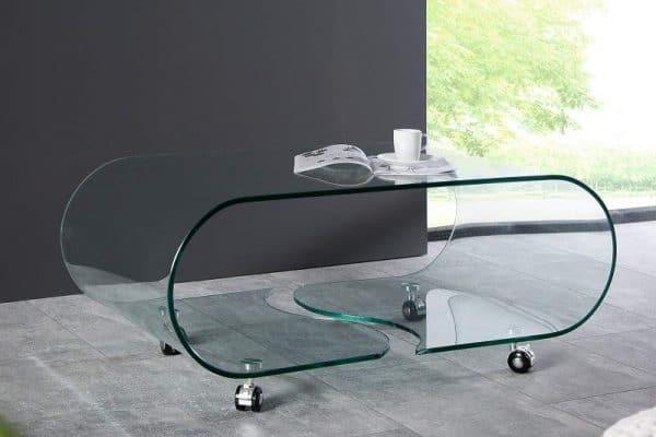 Sklenený konferenčný stolík Ghost 50 x 90 cm »