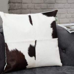 Kissen Rodeo 45x45cm hnedá biela kožušina