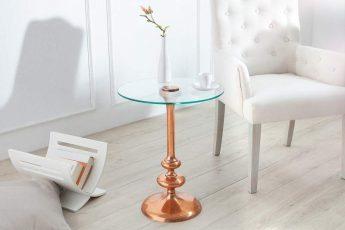 Konferenčný stolík Flute 45cm rund meď