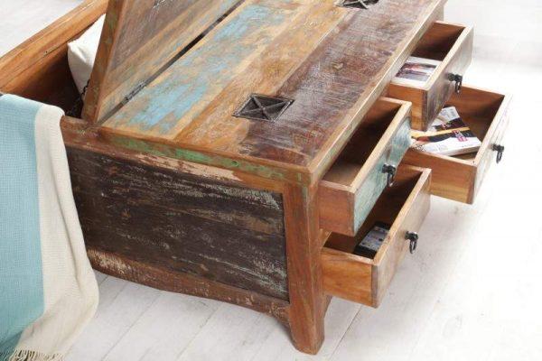 Konferenčný stolík Jakarta 70cm recyklované drevo