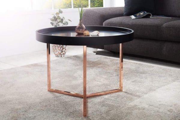 Konferenčný stolík Modul 60cm čierna meď
