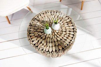 Konferenčný stolík Natures Art 80cm naplavené drevo