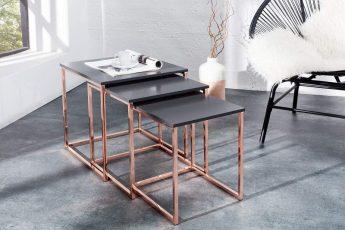 Konferenčný stolík New Fusion set 3ks meď