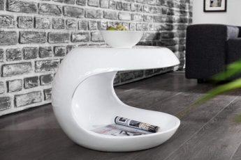 Konferenčný stolík Spin biela