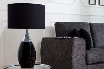 Stolová lampa Carla 60cm čierna