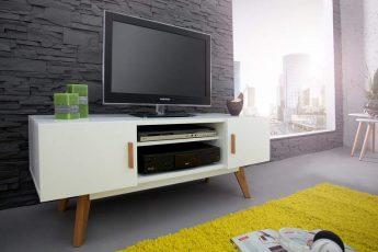 TV-stolík Scandinavia 120cm biela