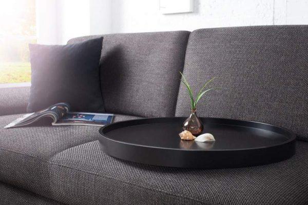 Čierny konferenčný stolík ModulØ 60 cm »