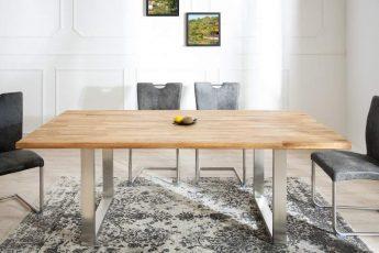 Jedálenský stôl Wotan 200cm dub ušľachtilá oceľ