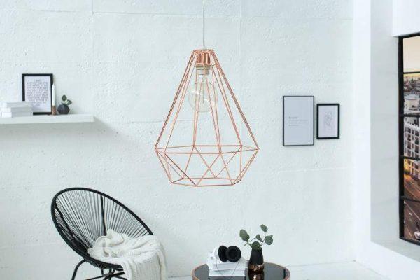 Závesná lampa Cage L meď