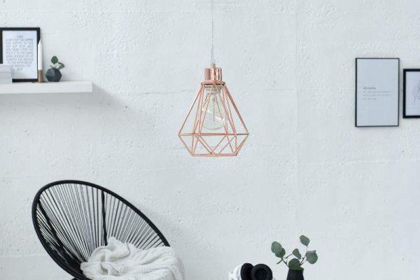 Závesná lampa Cage S meď