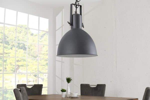 Sivo-biela závesná lampa Factory II Ø 30 cm »