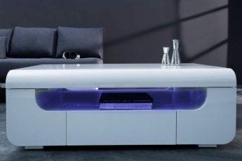 Konferenčný stolík Cube Ambience 120cm LED biela