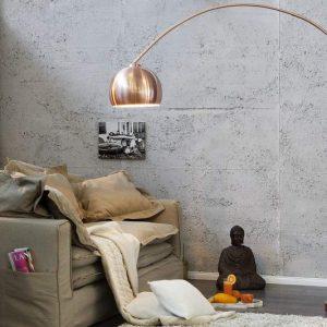 Stojanová lampa Big Bow meď 170-210cm