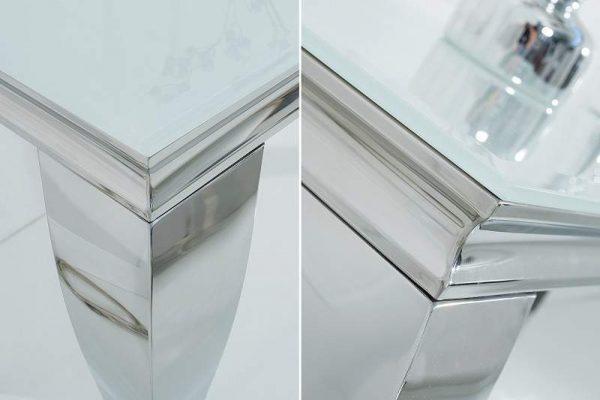 Stolík Modern Barock 140cm biela strieborná