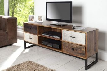 TV-stolík Nature Patchwork 150cm Kuhfell