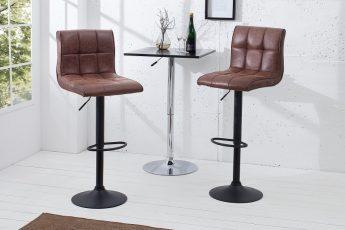 Barová stolička Modena 95-115cm vintage hnedá
