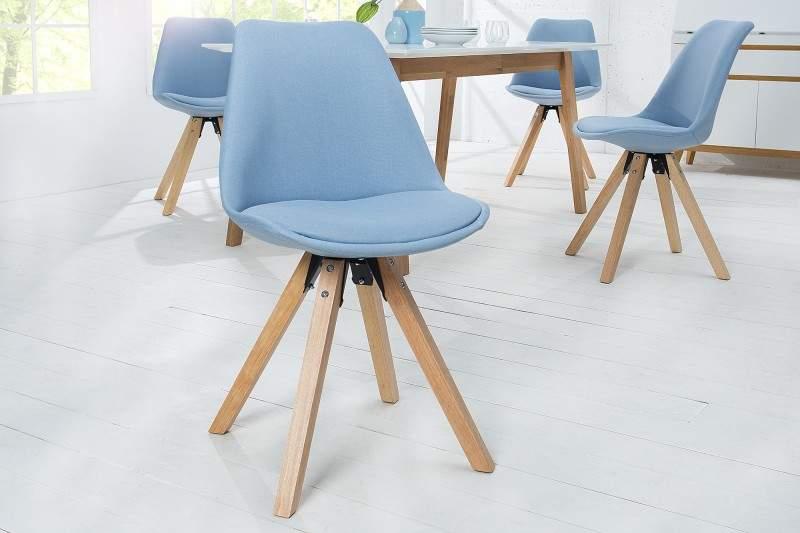Svetlomodrá jedálenská stolička Scandinavia Struktur » » iKuchyne 36847512216