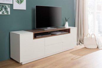 TV Board Empire 180cm biela vlašský orech