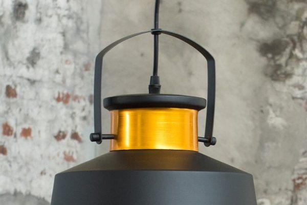 Závesná lampa Luz I čiernozlatá