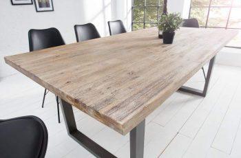 Jedálenský stôl Wotan Agát Teak bielený 100 x 200cm »