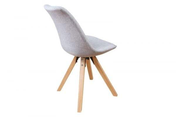 Sivá jedálenská stolička Scandinavia Struktur »
