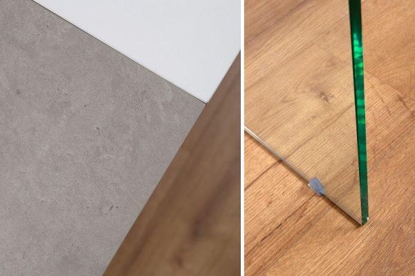 Jedálenský stôl Onyx 160-200cm biela betón
