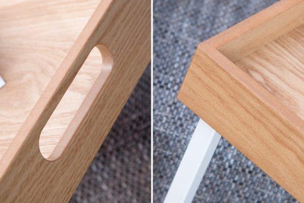 Konferenčný stolík Ciano biela dub