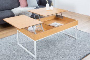 Konferenčný stolík Fabric dub biela