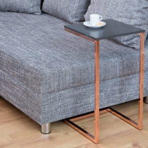 Konferenčný stolík Simply 60cm antracit meď