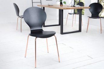 Stolička Form čierna meď