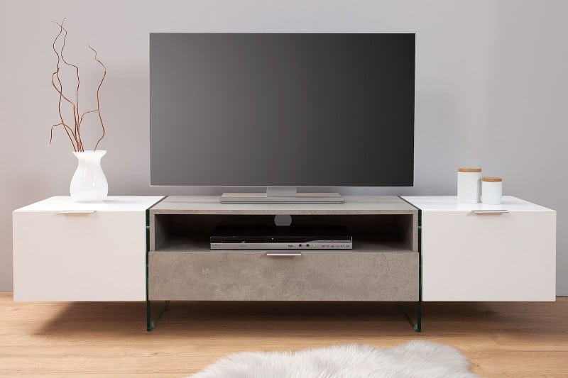 tv stol k onyx 160cm biely bet n ikuchyne. Black Bedroom Furniture Sets. Home Design Ideas
