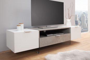 TV-stolík Onyx 160cm biela betón