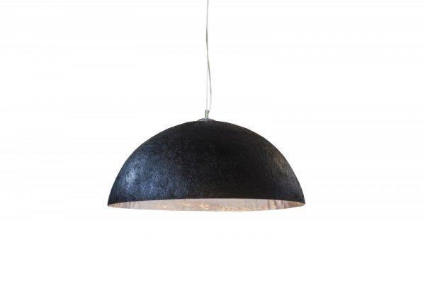 Závesná lampa Glow čierna strieborná 70cm