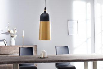 Závesná lampa Modern Chic I čiernozlatá