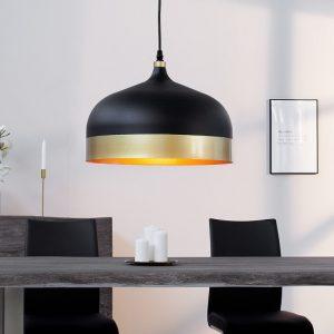 Závesná lampa Modern Chic II čiernozlatá