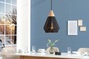 Závesná lampa Scandinavia I čierna