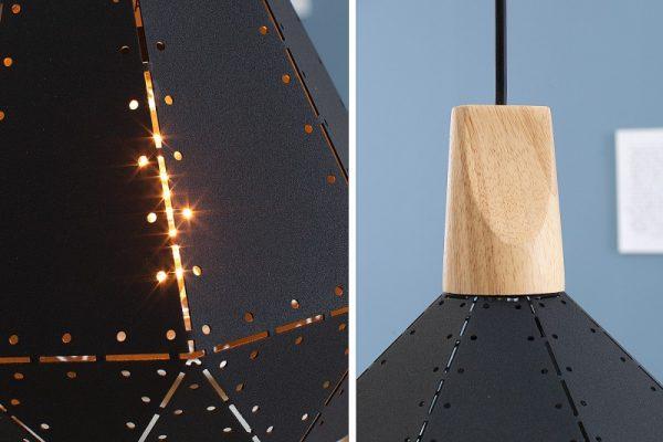 Čierna závesná lampa Scandinavia I 22 x 22 cm »