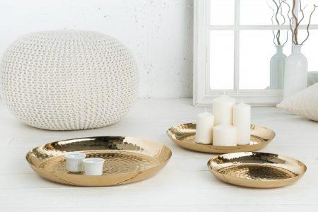 Dekoračná miska Orient set 3ks zlatá