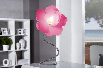 Stolová lampa Peonia ružová