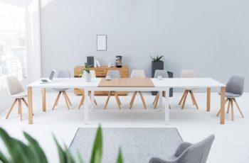 Jedálenský stôl Goliath 180-420cm biela dub