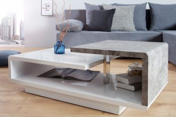 Konferenčný stolík Concept 100cm biela betón