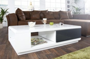 Konferenčný stolík Fortuna 120cm biela antracit