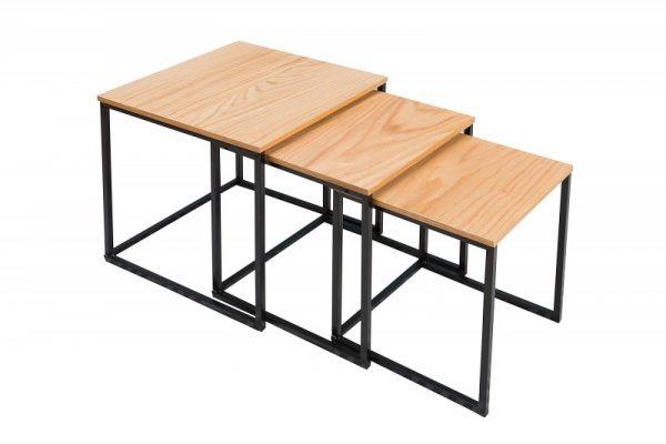 Konferenčný stolík New Fusion set 3ks dub čierna