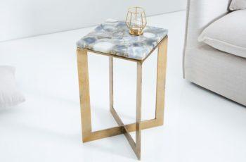 Konferenčný stolík Onyx Achat zlatá