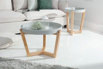 Konferenčný stolík Scandinavia dvoják stolík (podnos) sivá
